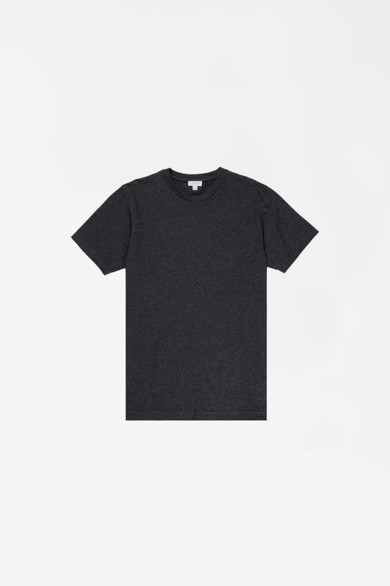 Organic cotton riviera t-shirt charcoal melange