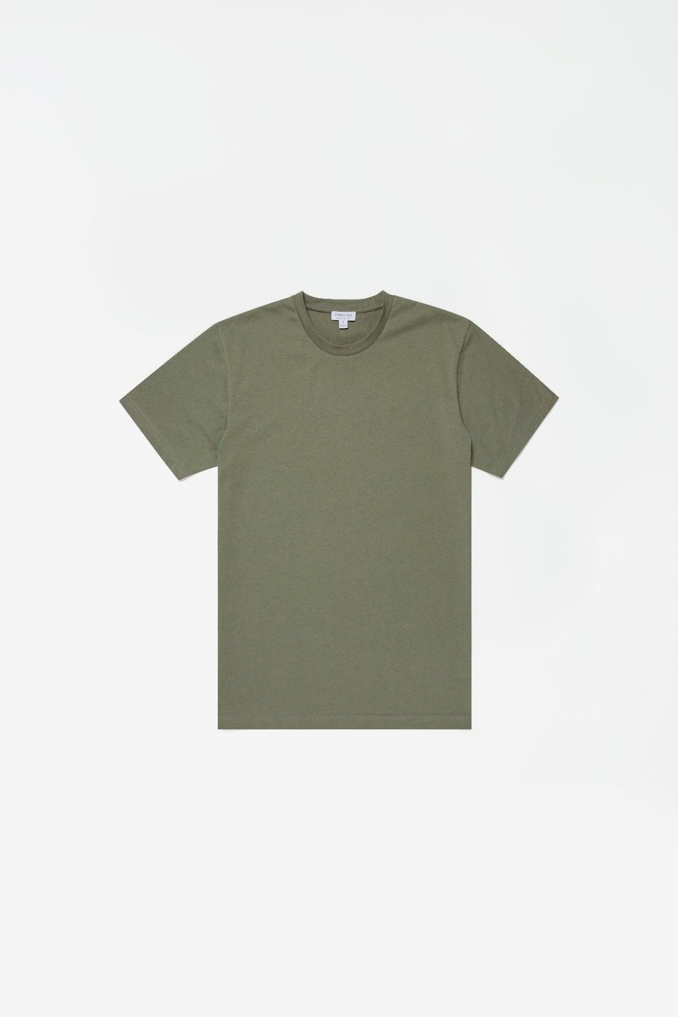 Organic cotton riviera t-shirt light khaki melange