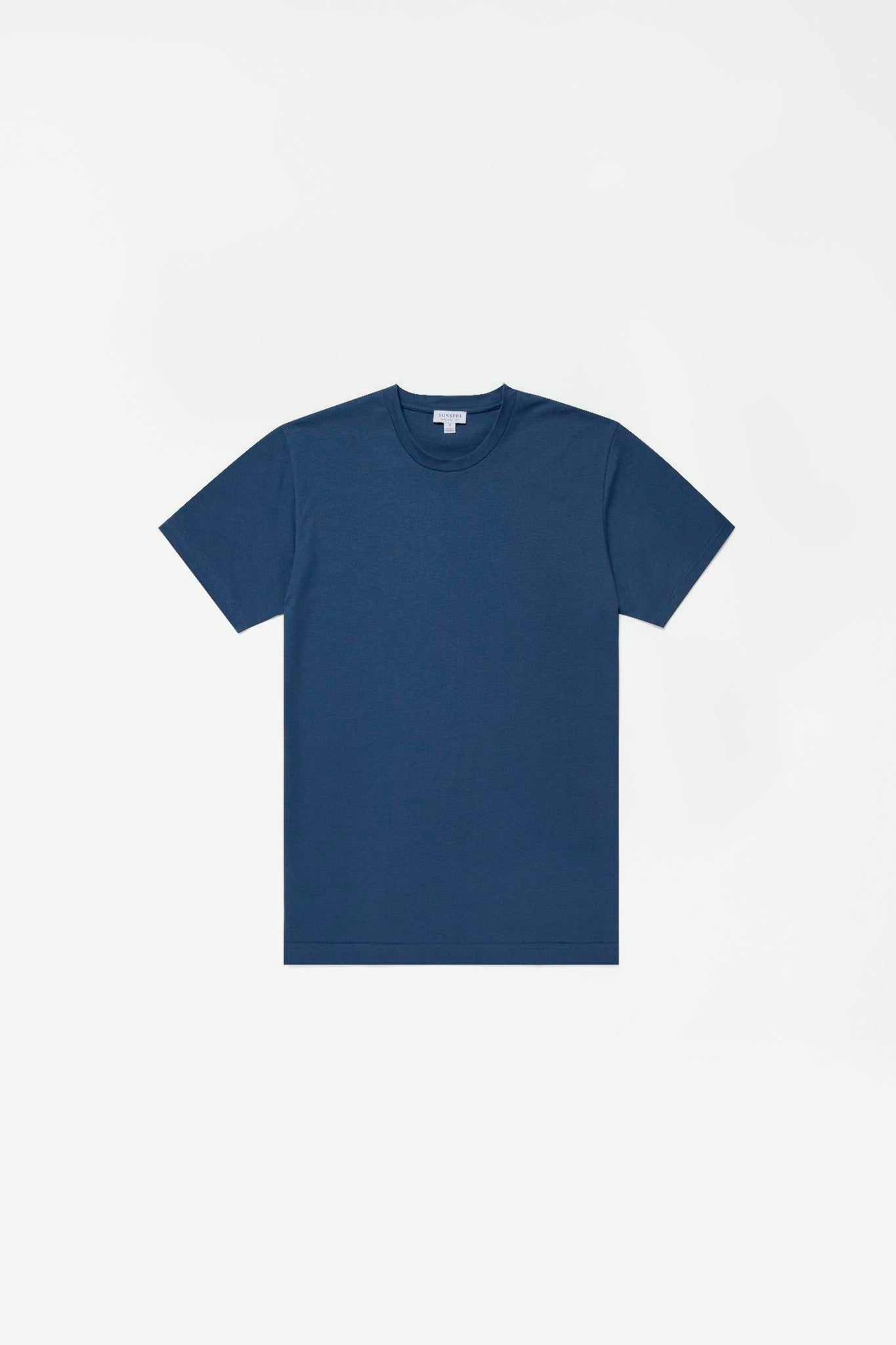 Organic cotton riviera t-shirt light smoke blue melange