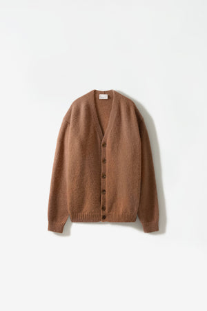 Oversized cardigan ocre brown
