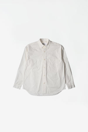 Oversized work shirt dry cotton poplin off white