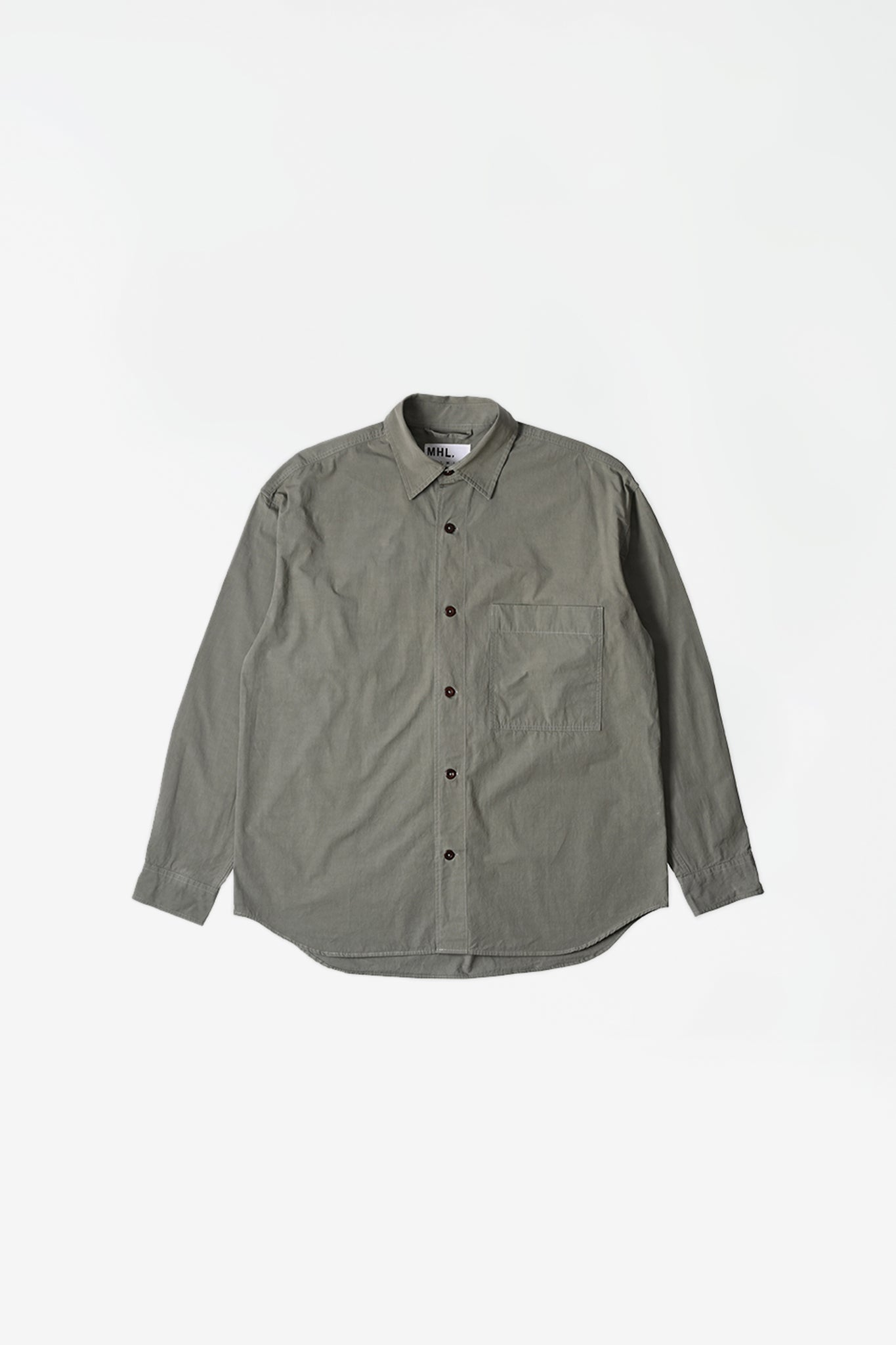 Oversized work shirt dry cotton poplin sage