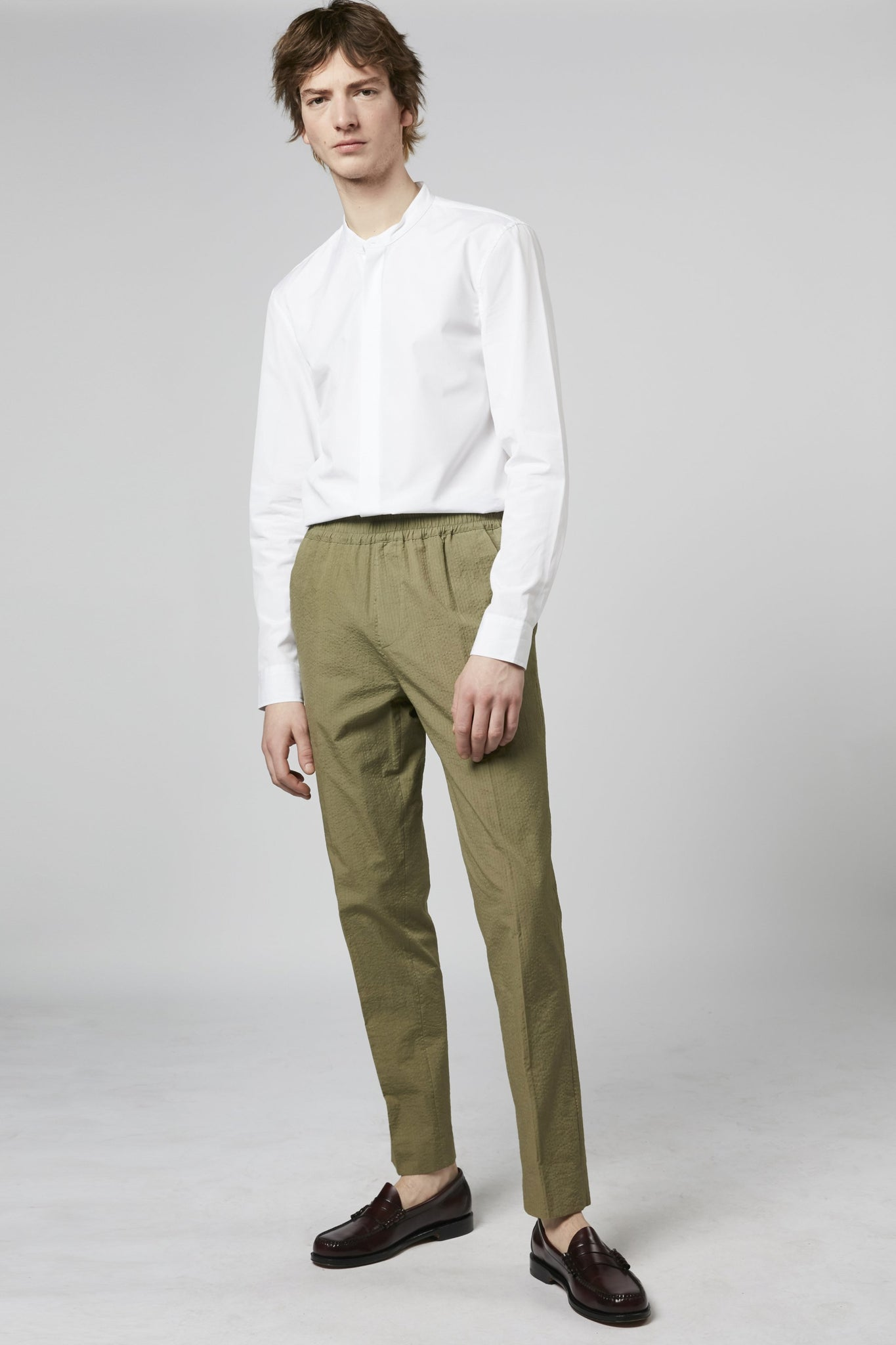 Paolo trousers cotton khaki