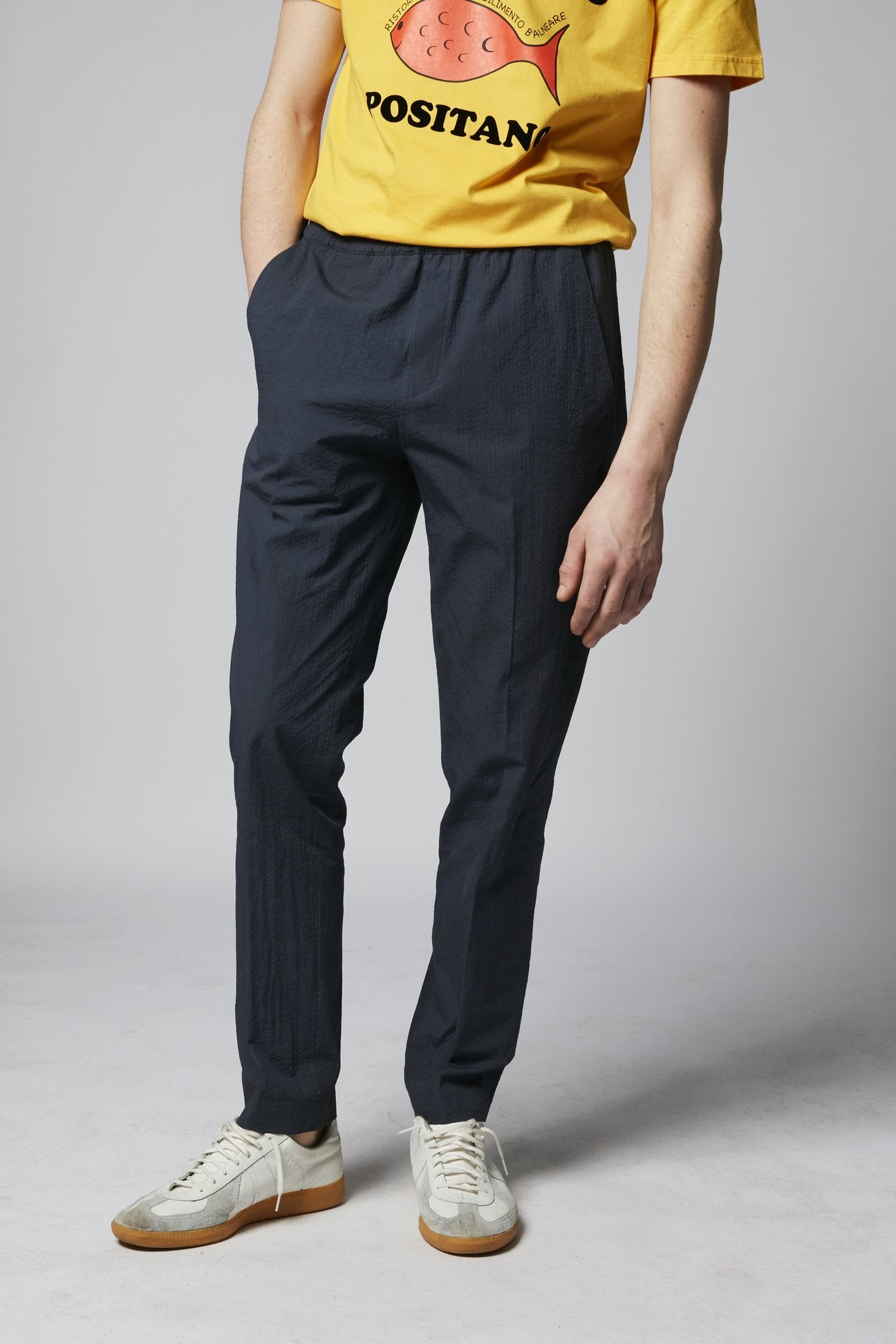 Paolo trousers cotton navy