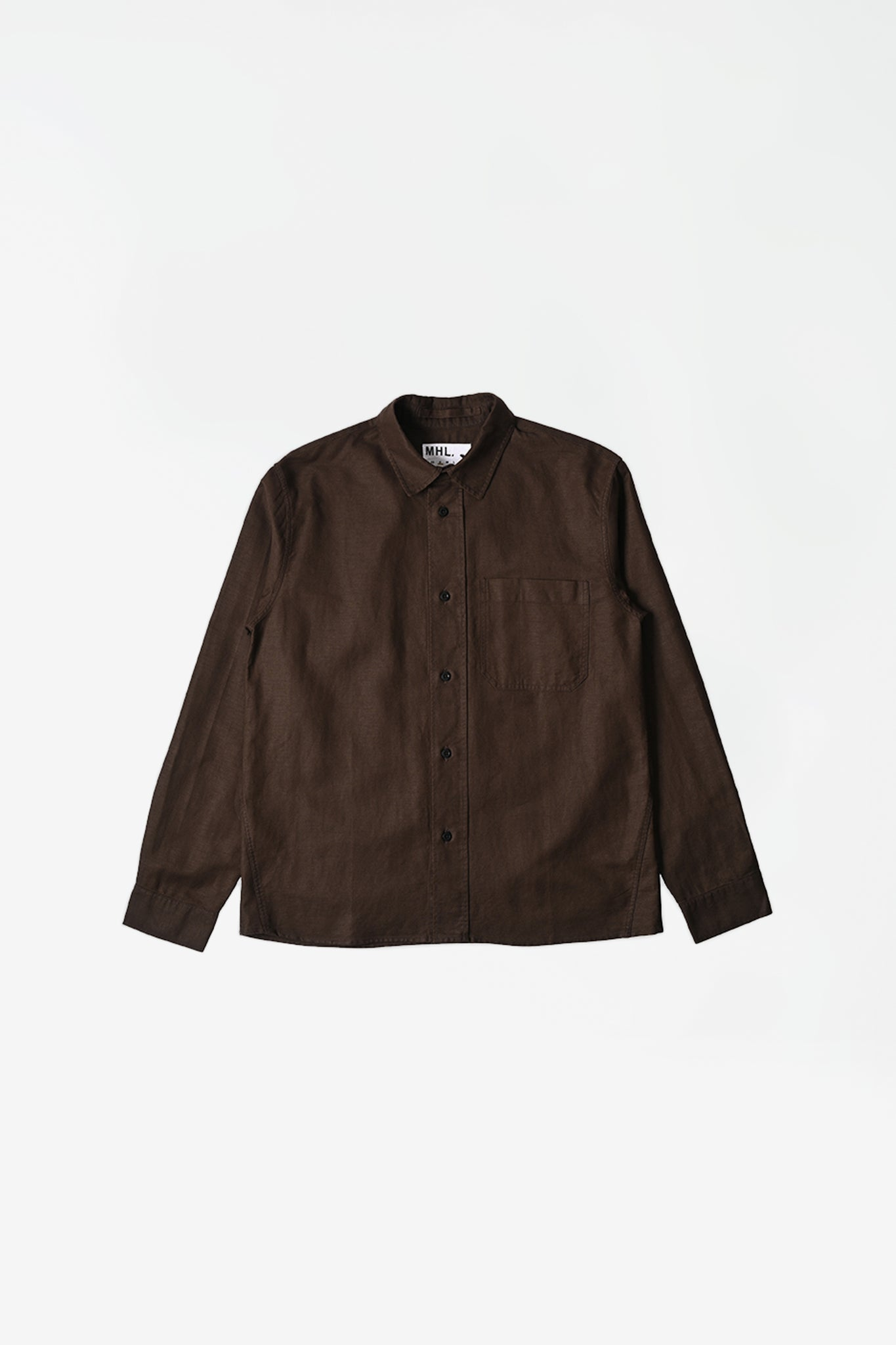 Painters shirt cotton/linen twill chestnut