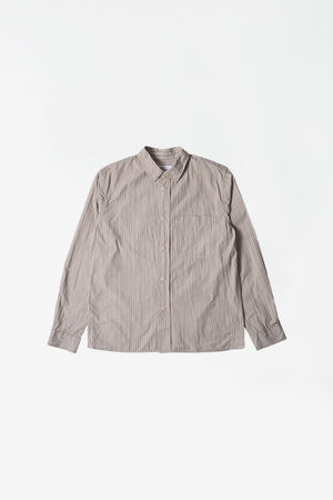 Painters shirt pyjama stripe brown/ecru