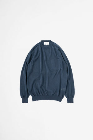 Paper blend sweater navy