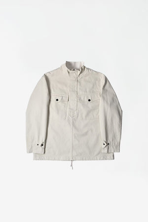 Parachute smock heavy cotton drill jacket off white
