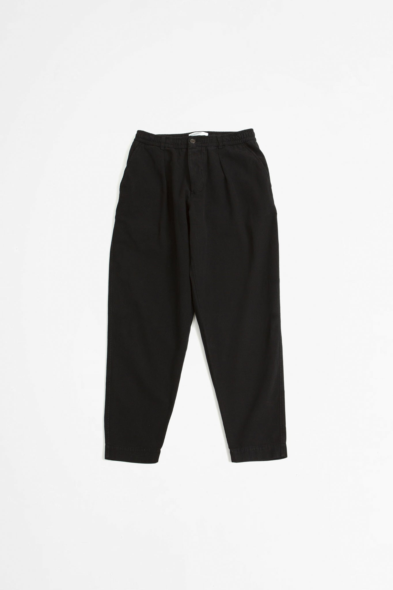 Pleated track pant canvas black