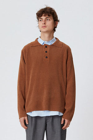 Polo knit brown honey