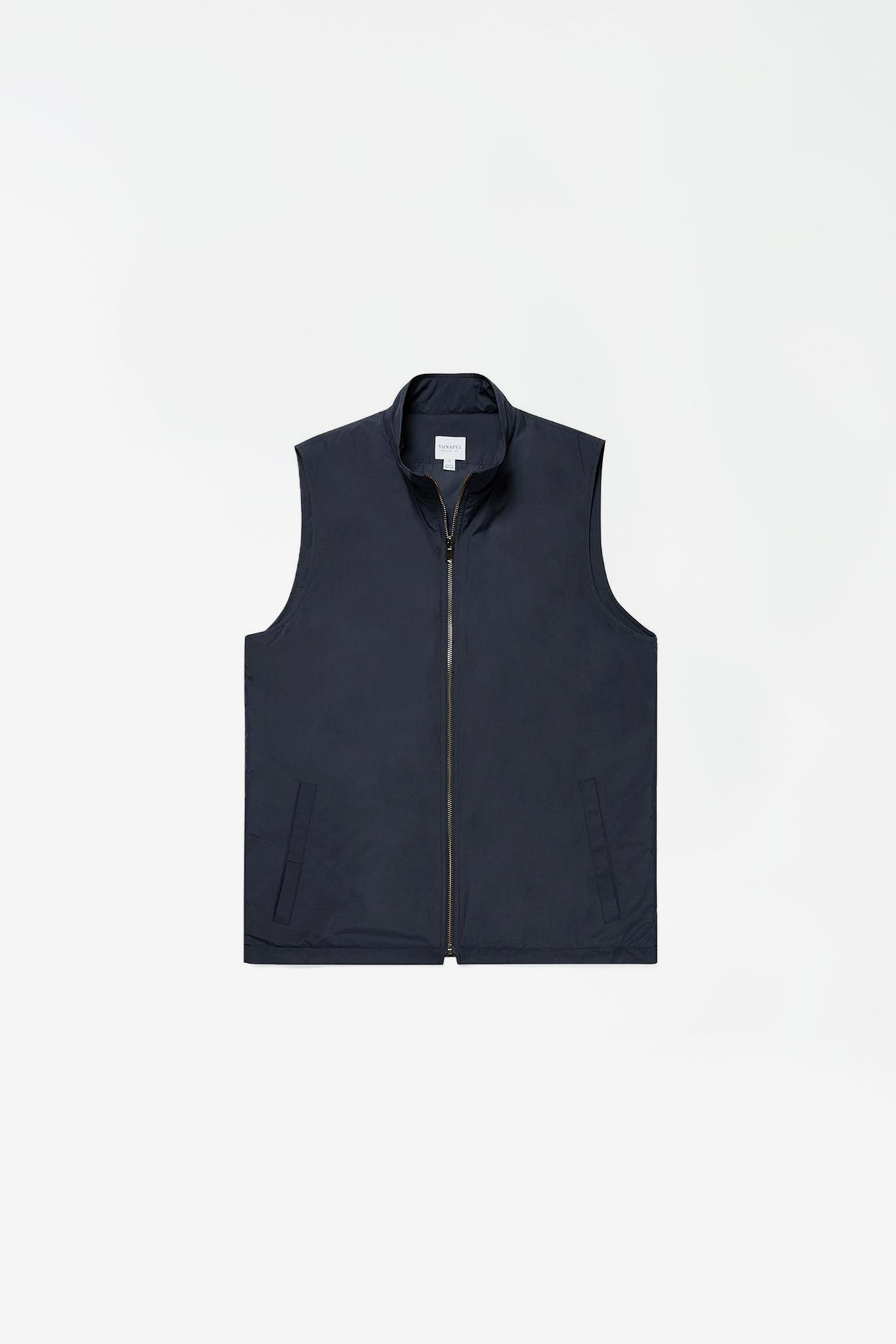 Quilted zip gilet navy