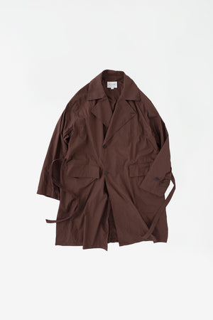 Raglan trench coat mahogany