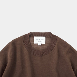 Ramie/mohair sweater brown