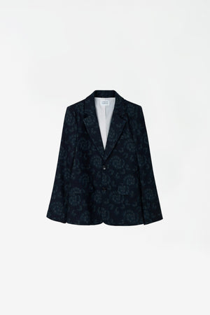React blazer dark navy AOP