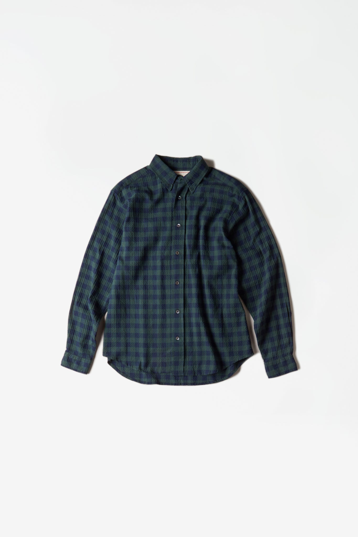Regular checkered shirt green
