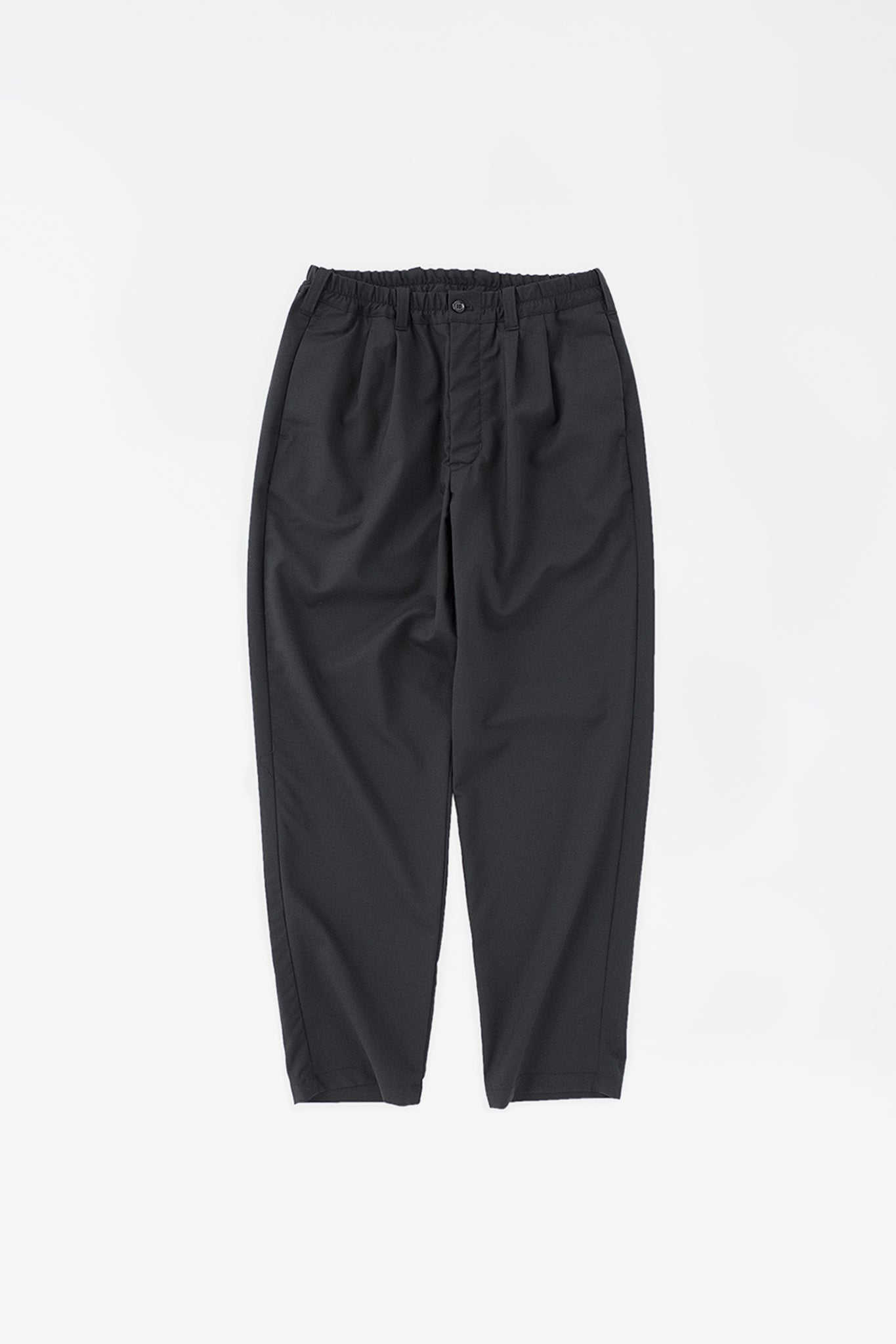 Regular tapered pants black check