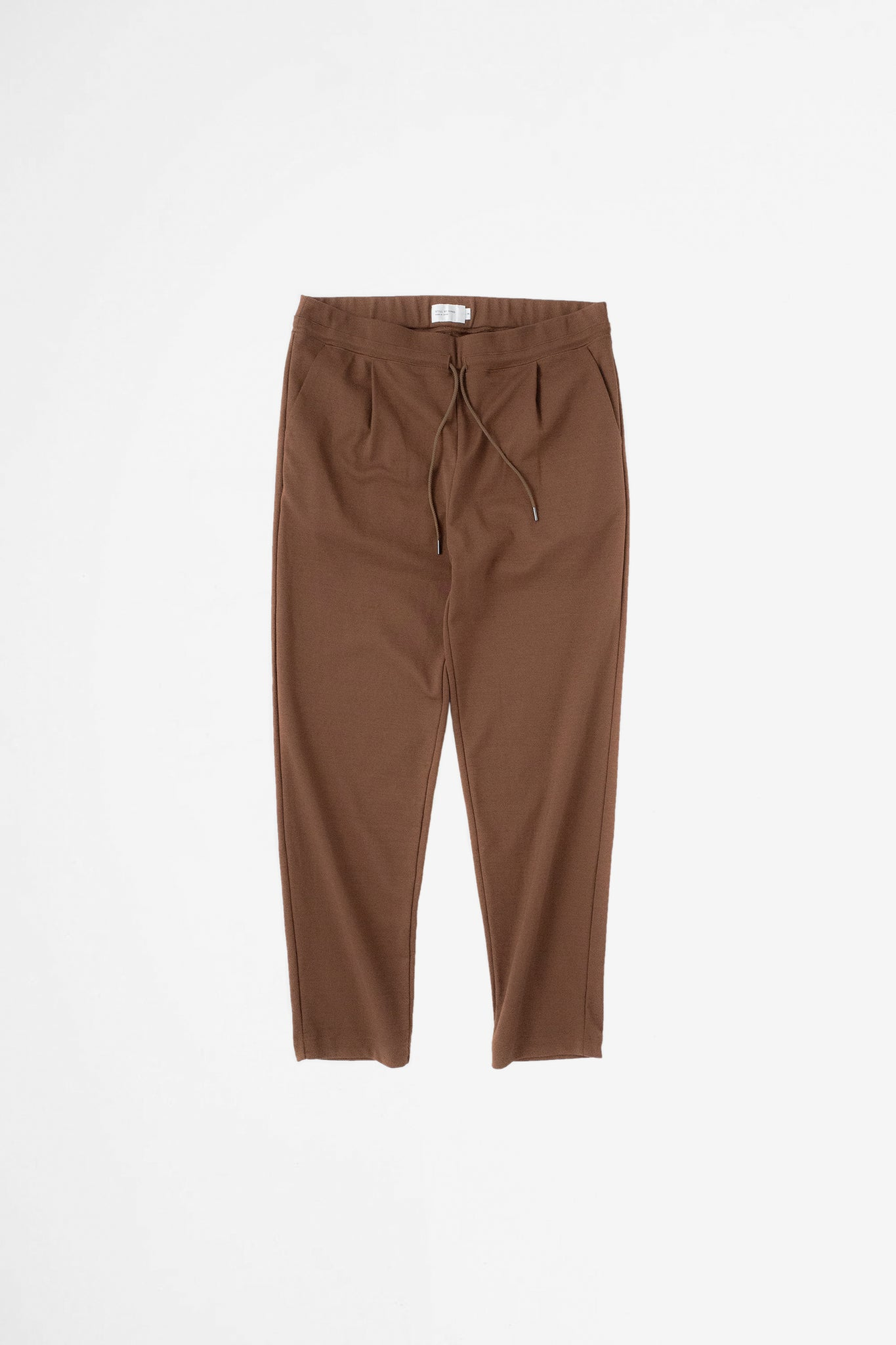 Relaxed jersey pants brown