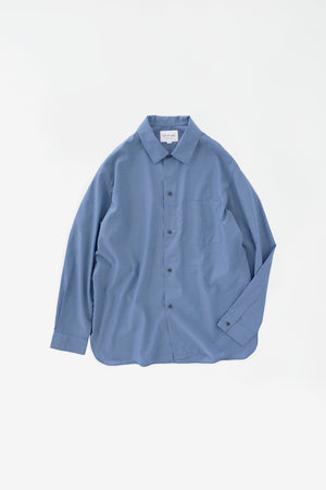 Relaxed overshirt blue