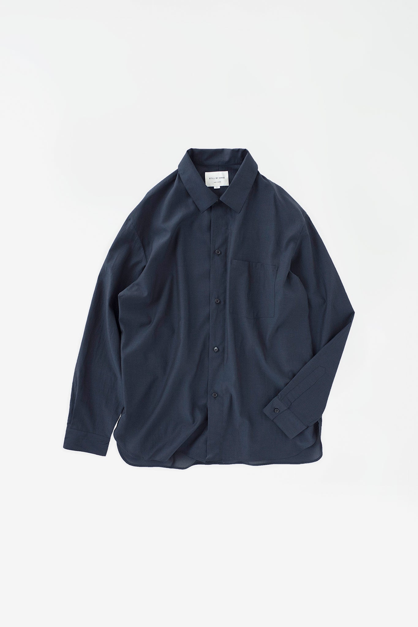 Relaxed overshirt navy