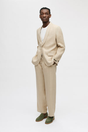 Relaxed tailored trousers desert check
