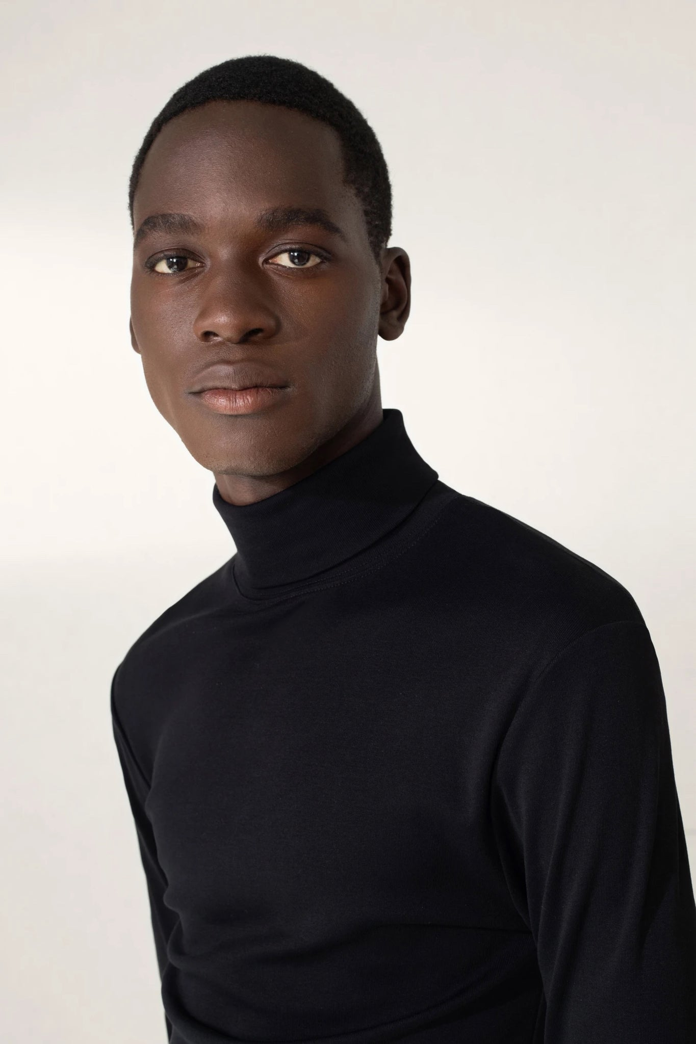 Rib turtleneck black