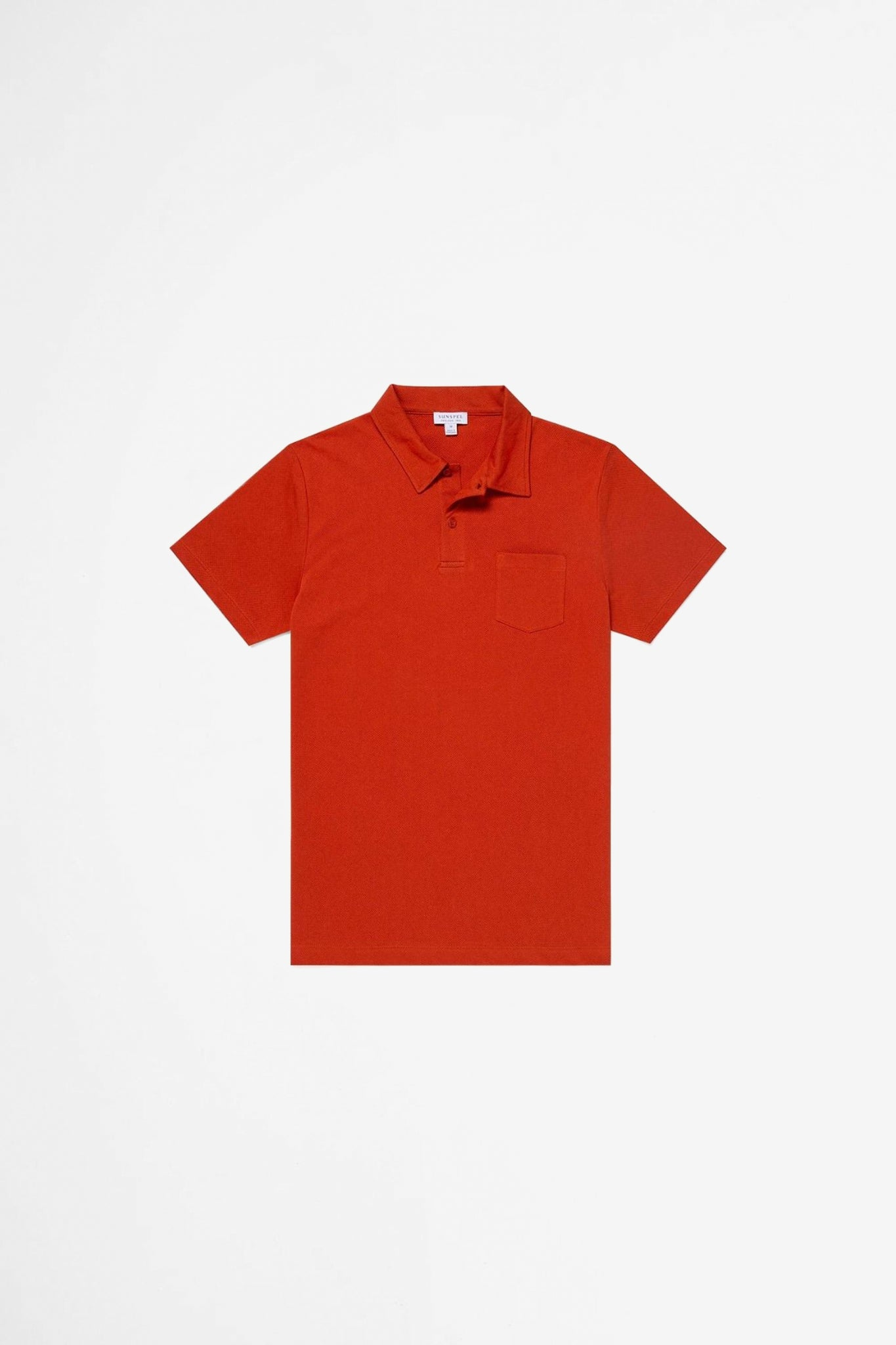 Riviera polo shirt burnt orange