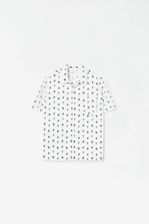 Road shirt cactus print white