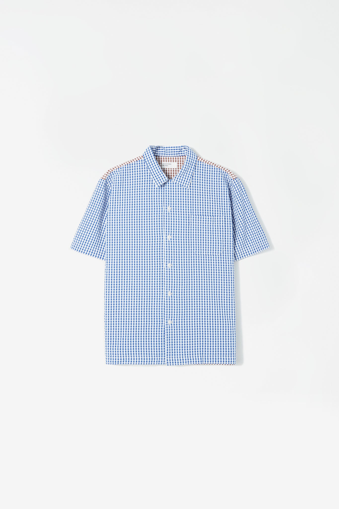 Road shirt gingham blue/brown
