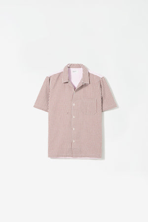 Road shirt gingham brown/pink