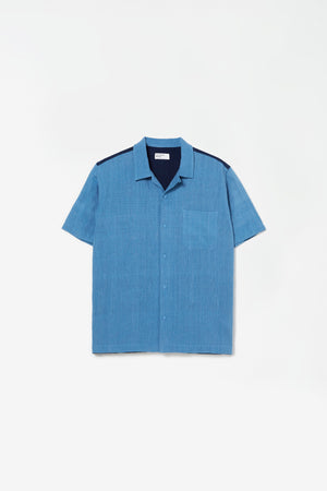 Road shirt handloom sky blue