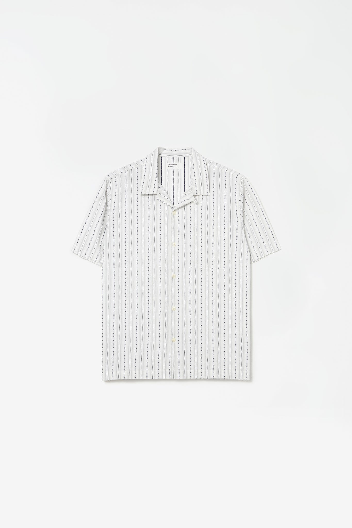 Road shirt western stripe ecru