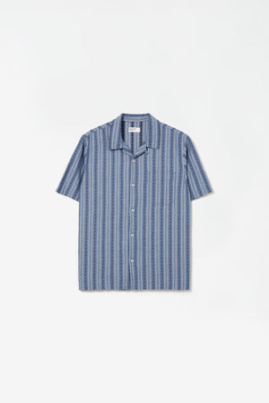 Road shirt western stripe navy