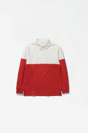 Ruben polo colour block carmine red