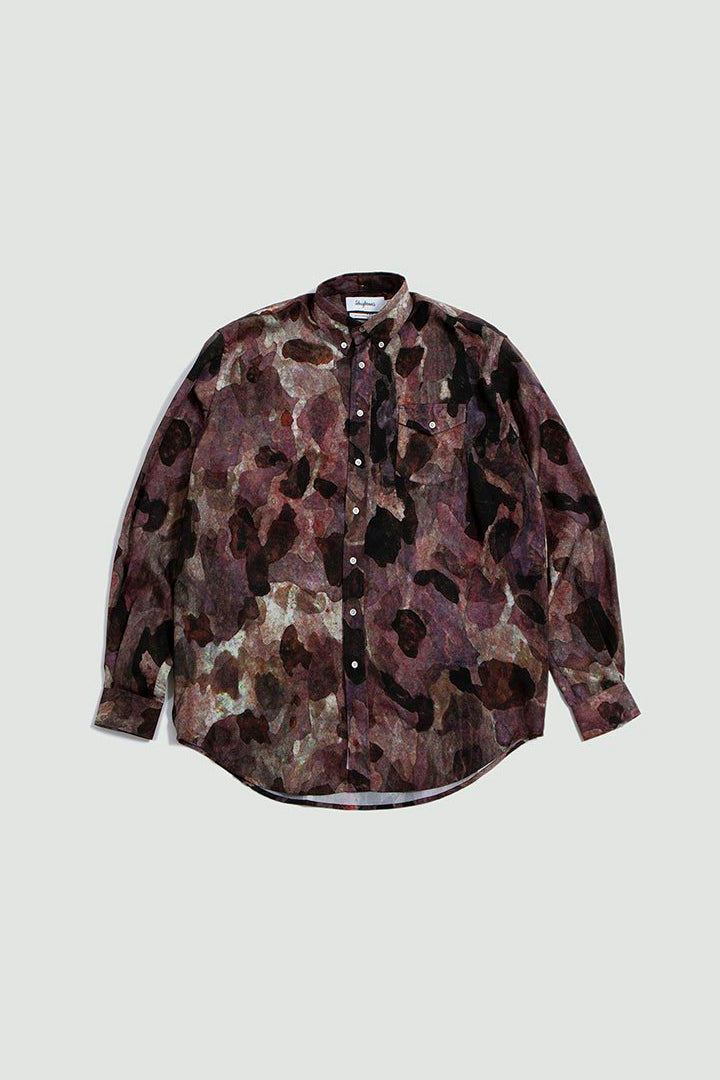 Shirt Oversized print camo burgundy/black