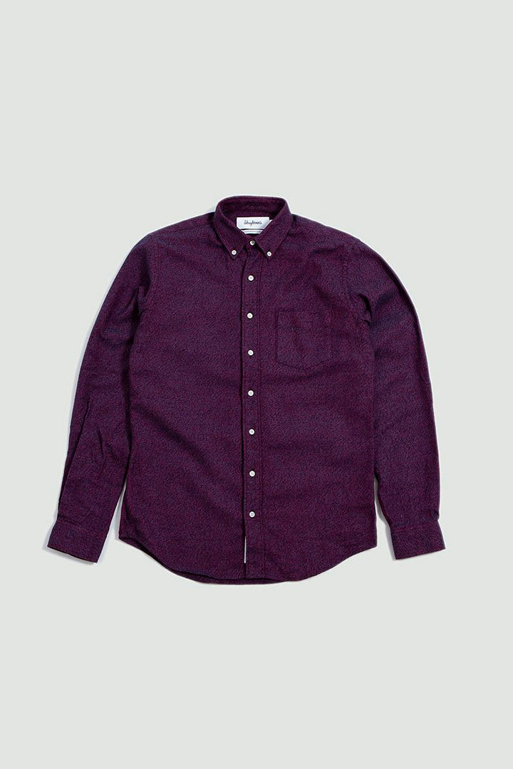 Shirt BD flannel melange red and navy
