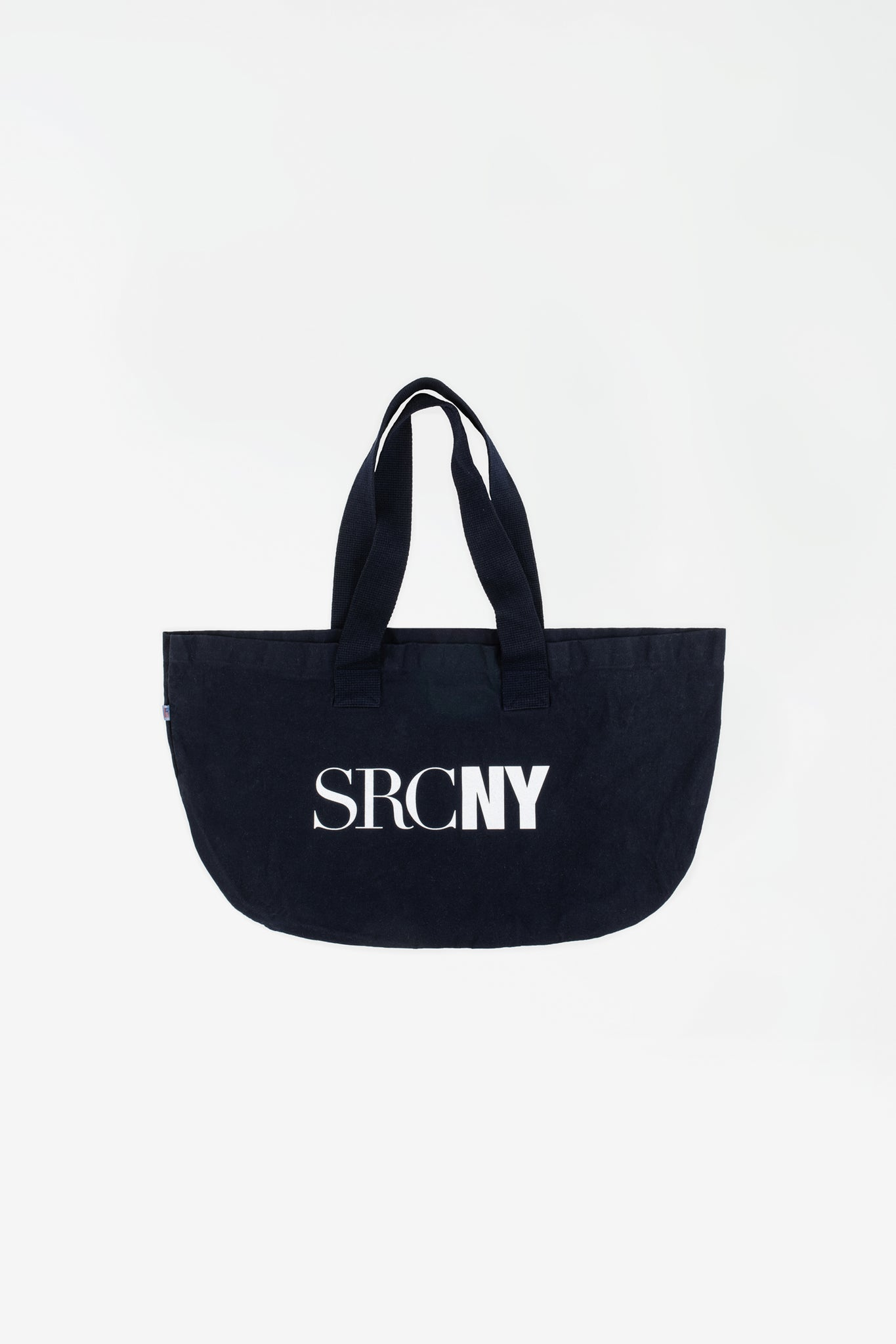 SCRNY Tote bag navy/white print