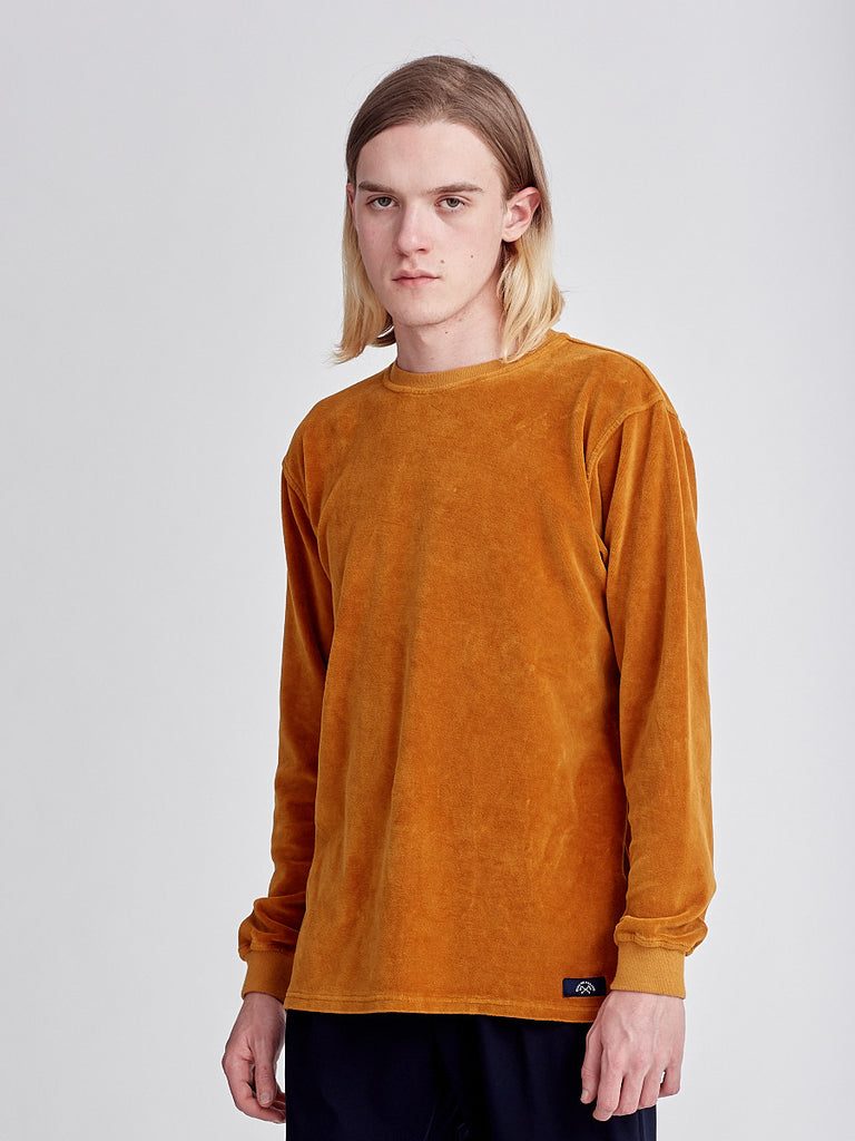 Orange sweatshirt peau de peche by Bleu de Paname