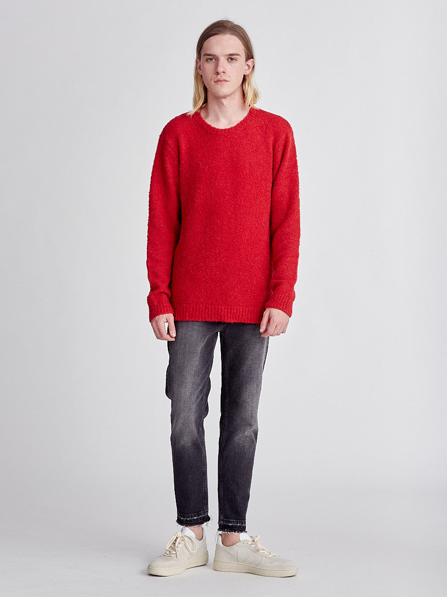Crew Neck jumper from Harmony Paris. Red Jumper
