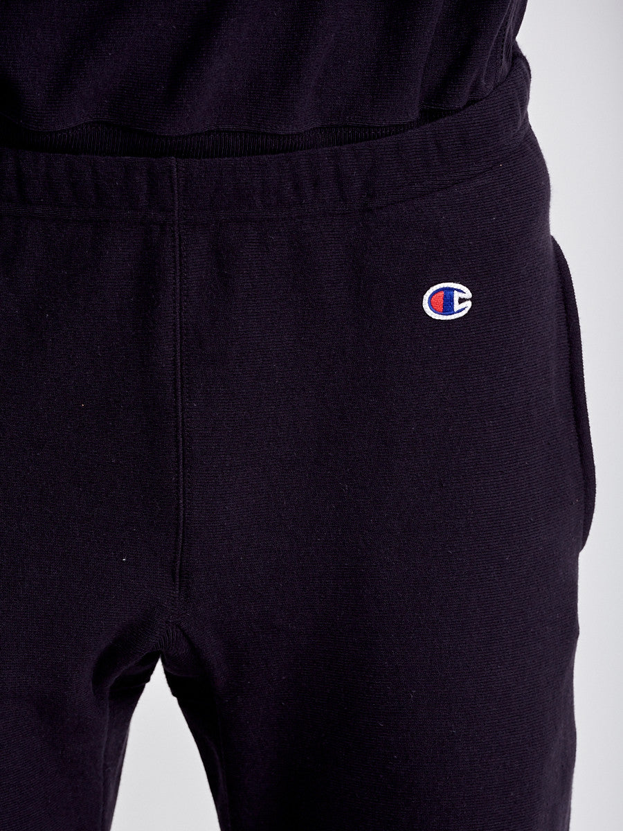 Reverse weave black jogger pants by Champions
