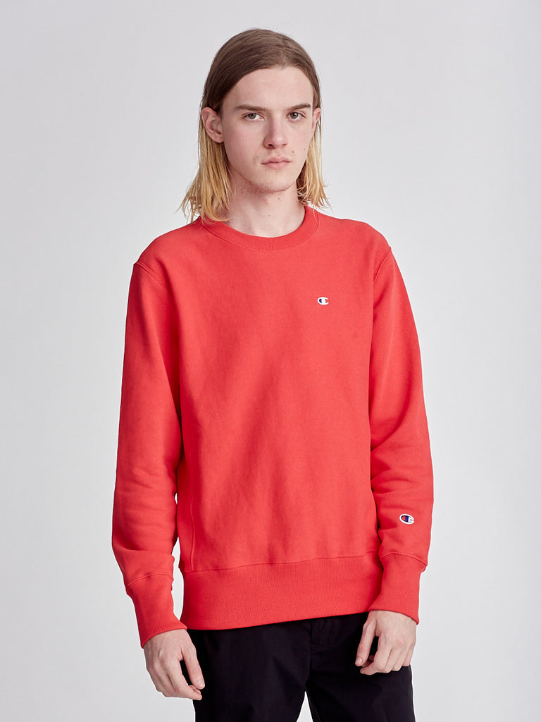 Red reverse weave sweatshirt by Champions