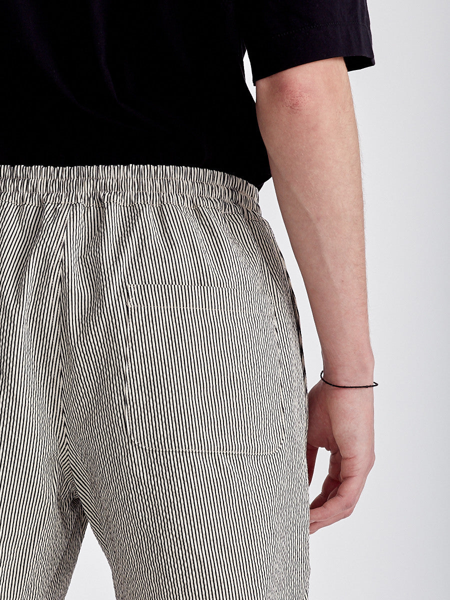 Catania shorts from A Kind of Guise in grey stripes.