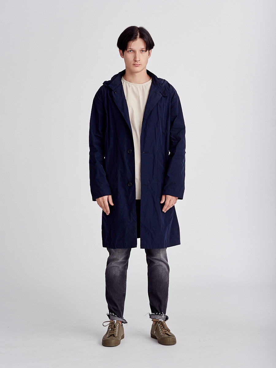 Navy coat made by Still by Hand