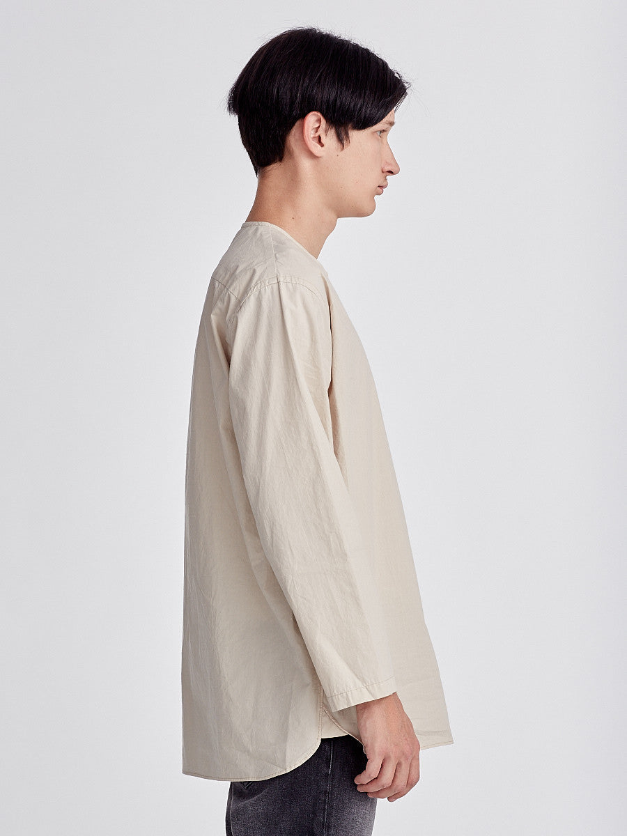 Beige Shirt from Still By Hand made in Japan. Simple Shirt.