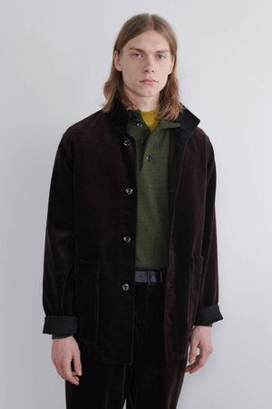 Stand Collar Jacket Heavy Corduroy Bark