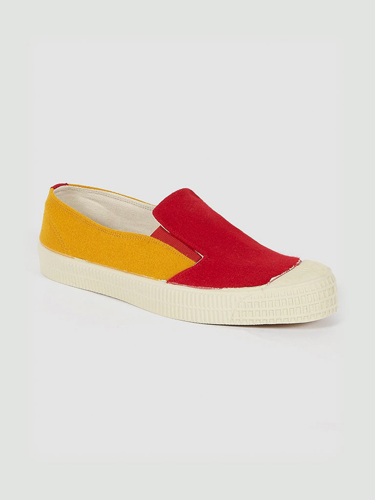Novesta. UW slip on mustard/red