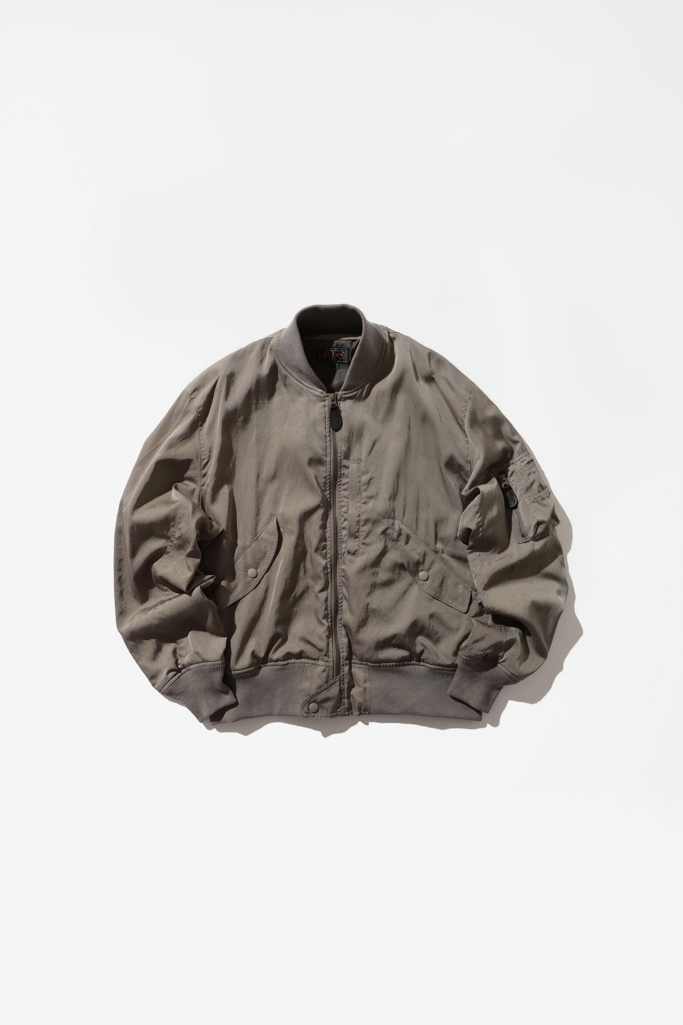 Satin flight jacket sage