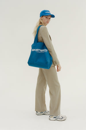 Science logo tote sport blue/white print