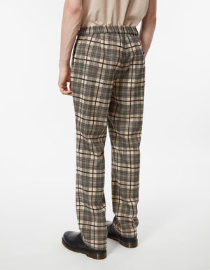 Pop Pants Wool Mix Check Black and Khaki