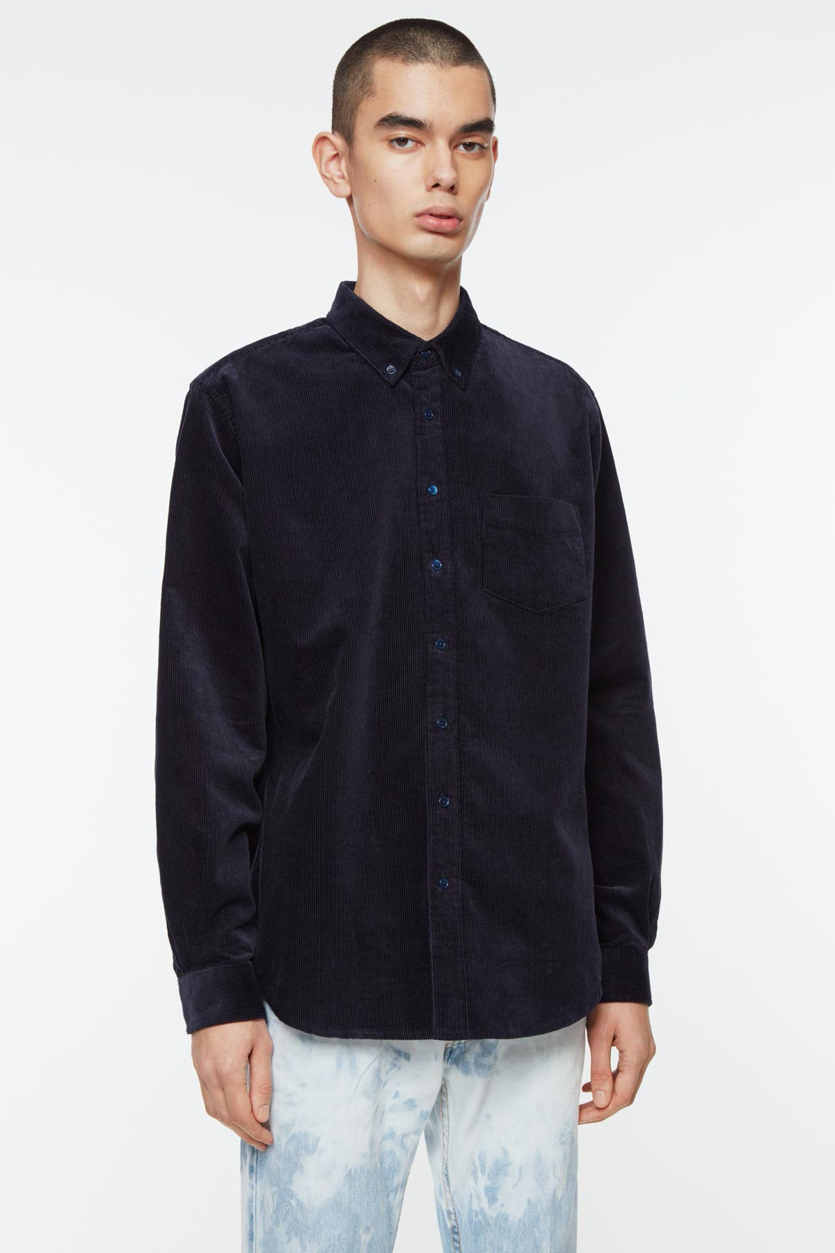 Shirt BD cord deep blue