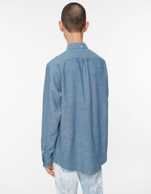 Shirt BD cotton wool chambray indigo